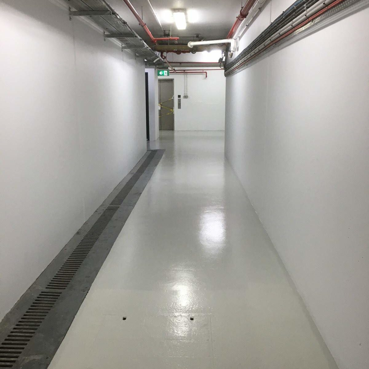 corridor after surface coating